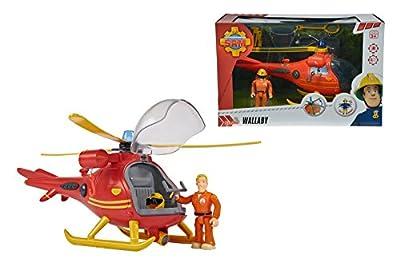 Feuerwehrmann SAM Wallaby Helicopter mit Figur Hubschrauber Licht & Sound