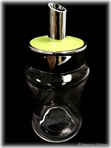 Retro Glass Sugar Shaker Jar Bottle with Green Top