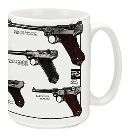 Cuppa Second Amendment Rights 15-Ounce Coffee Mug With Lugers