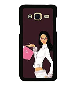 Shopping Girl 2D Hard Polycarbonate Designer Back Case Cover for Samsung Galaxy J3 (2016)