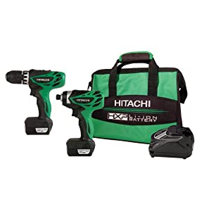 Hitachi KC10DFL 12-Volt Peak 2-Tool Li-Ion Combo Kit with Carrying Bag