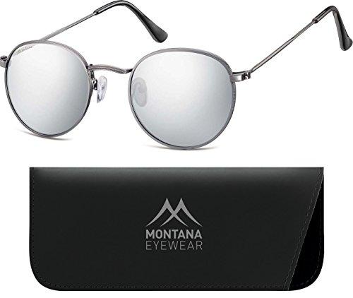 Montana MS92-Occhiali da sole Unisex - Adulto    Multicoloured (Gunmetal/Revo Silver Mirror) Taglia unica