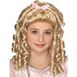 Child Storybook Girl Blonde Curly Wig w/Bow Costume