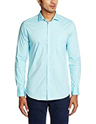Easies Men's Casual Shirt (8907201341494_81345 E702UASFFSSC_39_Aqua)