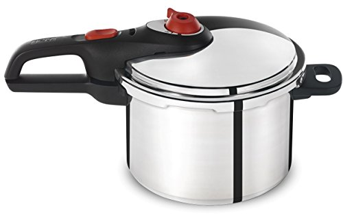 T-fal P2614634 Secure Aluminum Initiatives 12-PSI Pressure Cooker Cookware, 6-Quart, Siver (Cheap Pressure Cooker compare prices)