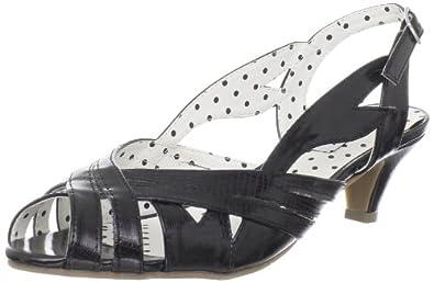 B.a.i.t. Women's Joanna Sandal,Black,6.5 M US