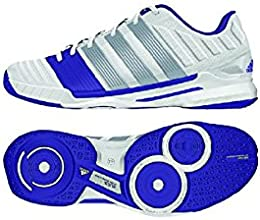 Adidas women39s Stabil 11 Racquetball Shoe-Core WhiteCarbon MetallicPower Purple