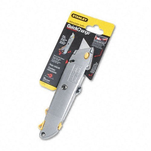 Stanley Bostitch Quick-Change Utility Knife with Retractable Blade and Twine Cutter, Silver  (10-499)