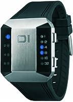 The One - SC115B3 - Split Screen - Montre Mixte - Quartz Led - Cadran Argent - Bracelet Caoutchouc Noir