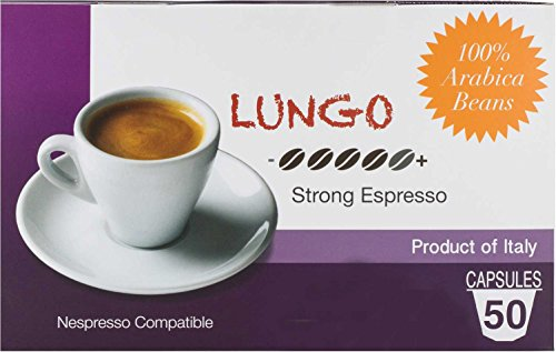 Mixpresso Coffee Nespresso Compatible Capsules Coffee from Italy Lungo: Strong, 50 Count (Nespresso K Cups compare prices)