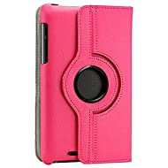Gearonic 360 Degree Rotating PU Leather Case Cover Swivel Stand For Google Nexus 7 Asus Tablet Hot Pink (5099HPUIB...