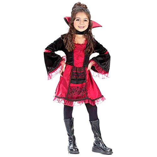 Sassy Victorian Vampiress Child's Costume (Size: Medium 8-10)