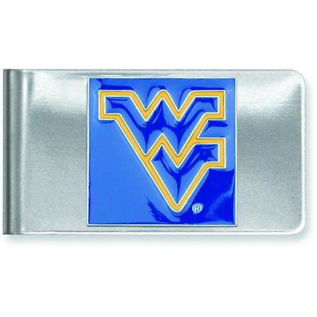 Stainless Steel Collegiate West Virginia University Money Clip