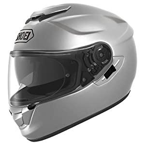 Shoei Solid GT-Air Street Bike Racing Motorcycle Helmet - Silver / X-Large