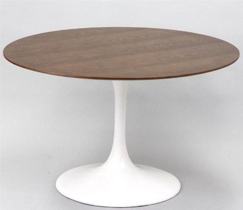 Buy Low Price Lexington Modern Eero Saarinen Tulip Style 48″ Walnut top Dining Table – White (B004K8WS1W)