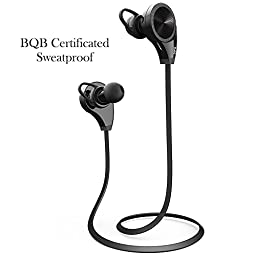Bluetooth Earphones,DLAND Wireless Mic Noise Canceling Stereo Headphone Headset-In-Ear With Microphone Sweatproof Sports Running Gym Earbuds for Common Bluetooth Devices