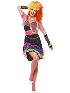 Smiffys 80's Fun Girl Costume with Top and Belt (Large)