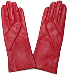 Fownes Women\'s Cashmere Lined Red Lambskin Leather Gloves 8/XL