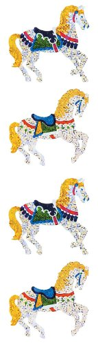 Jillson Roberts Prismatic Stickers, Carousel Horses, 12-Sheet Count (S7116)