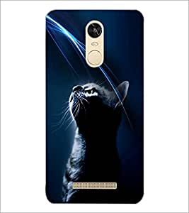PrintDhaba Cat D-4025 Back Case Cover for XIAOMI REDMI NOTE 3 (Multi-Coloured)