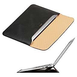 OMOTON 13-Inch. Ultrathin Carrying Sleeve Bag Case  with Stand for Macbook Air - Black