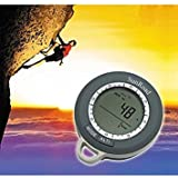 Compasses Multifunctional Mini Digital Altimeter Climb Rate Barometer Thermometer Weather Forecast Time Compass