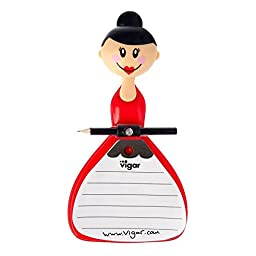 New Vigar Dolls Julia Notebook With Suction Pad and Pencil - Vigar 4040
