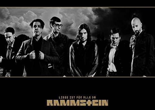 "Rammstein 1 Till Lindemann Richard H. denti Kruspe Paul Landers'Oliver"" Great Ollie Riedel In Rock Music Band metallo, motivo: copertina Album per foto, formato A4, unico Print Poster """