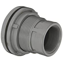 "Spears 8172-C Series CPVC Bulkhead Tank Adapter, Schedule 80, Gray, 3"" NPT Female"