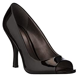 Product Image Women's Mossimo&reg; Vesselina Peep-Toe Pumps - Black Patent