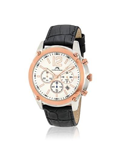 Porsamo Bleu Men's 642CNAL Nathan Black/White Stainless Steel Watch