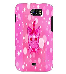 PrintDhaba Kitty D-2901 Back Case Cover for MICROMAX A110 CANVAS 2 (Multi-Coloured)