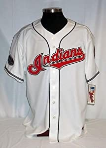 Cleveland Indians Authentic Majestic Home Jersey with 2008 All Star Game Patch by Your Sports Memorabilia Store
