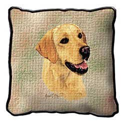 Pure Country Weavers Labrador Retriever Yellow Pillow 1152-P 53 inches wide by 53 inches long, 100% cotton
