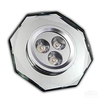 Strahler Spot Aufbaustrahler GU10 LED silber Stahl Warmweiß