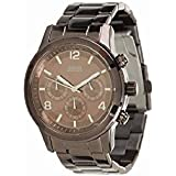 Guess W17543L1 - Reloj analógico de cuarzo para mujer con correa de acero inoxidable, color marrón