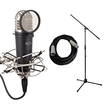 Samson MTR101A with Mic Stand, Cable, Shockmount, and Pop Filter Bundle