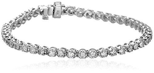 14k-Diamond-Miracle-Plate-Tennis-Bracelet-3-cttw-K-L-Color-I1-I2-Clarity-7