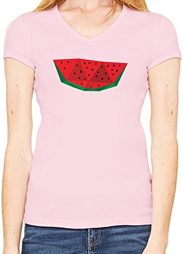 Origami Watermelon T-Shirt V collo Donne XX-Large