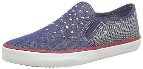 Geox Jr Kiwi Girl D Scarpe Low-Top, Bambine e Ragazze, Blu (Jeans), 31