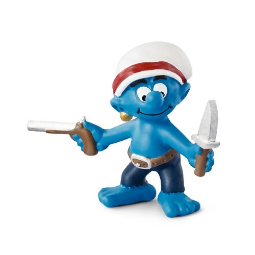 Schleich Gun Smurf Toy Figure - 1