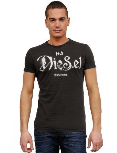 Diesel T-ninao 93r-Grey Man T-shirts Make Men - S