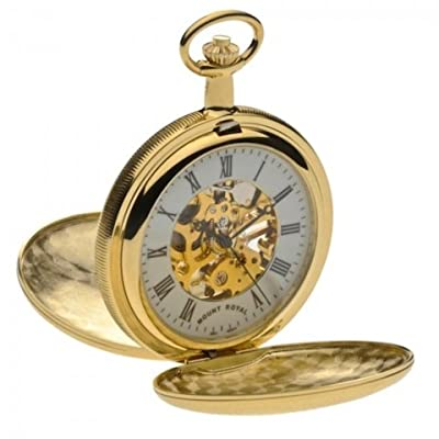 Mount Royal Pocket Watch B21 Gold Plated Double Hunter