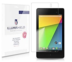 iLLumiShield - Google Nexus 7 2013 (Wi-Fi) 2nd Generation Crystal Clear Screen Protectors with Anti-Bubble/Anti-Fingerprint - 3-Pack + Lifetime Replacements
