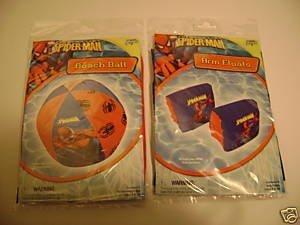 Spiderman Spider Man Arm Floats Floaties & Beachball Beach Ball (sold as set) by BIg Time online kaufen