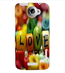 ColourCraft Love Creative Image Design Back Case Cover for HTC ONE X