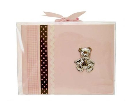 AD Sutton Pink Pleather Brag Book with Silver Bear