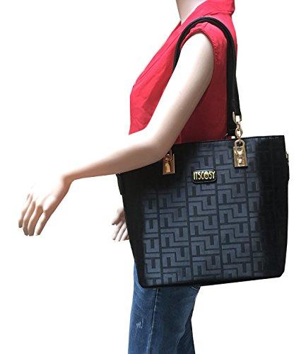 d7d0b00e9d38c4 Womens 6 Pcs Lightweight Tote Work Bag Handbag and Purse Set –  Hotdeesigns.com
