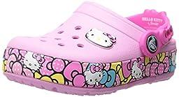 crocs Crocslights Hello Kitty Ribbon Clog (Toddler/Little Kid), Carnation, 12 M US Little Kid