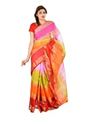 Asmara Collection Women's Cotton Silk Saree (SARARH00059, Multicolor)